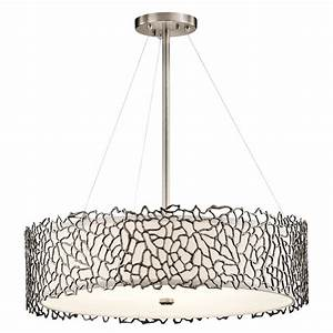 Kichler clp silver coral modern classic pewter finish