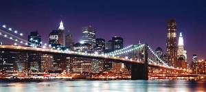 foto brooklyn bridge nacht new york nyc 90 x 202 cm With balkon teppich mit tapete london paris new york