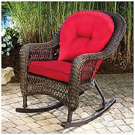 view wilson fisher 174 charleston resin wicker cushioned rocker deals at big lots