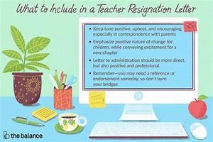 Teacher Resignation Letter Examples