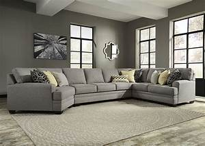 american furniture galleries cresson pewter left facing With sectional sofa with left cuddler