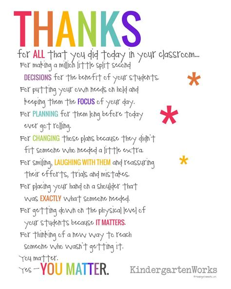 poem for preschool teacher if you didn t hear this from anyone today kindergartenworks 969