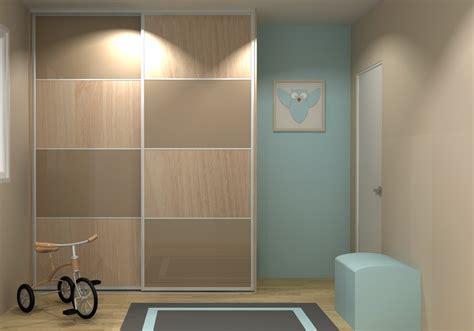 Porte De Placard 3 Vantaux Avec Miroir Style Moderne