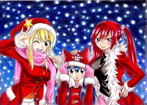 fairy tail christmas  prettylittlewolf  deviantart