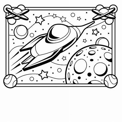Coloring Spaceship Printable Pages