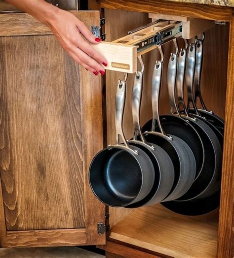glideware pull out cabinet organizer for pots and pans 1000 ideas about pan rack on pinterest pot racks