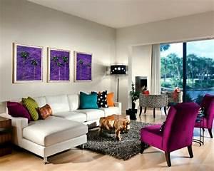Farbe An Wand : 40 herrliche zimmerdesigns in orchidee farbe ~ Markanthonyermac.com Haus und Dekorationen