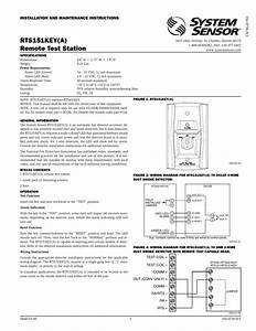 Alarm Aux Out D2 Duct Detector In System Sensor Smoke