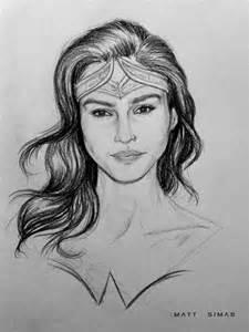 Gal Gadot Wonder Woman Sketches
