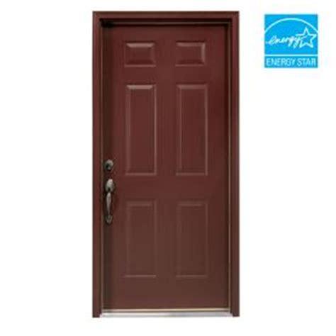 shop reliabilt 32 quot 6 panel steel entry door unit at lowes