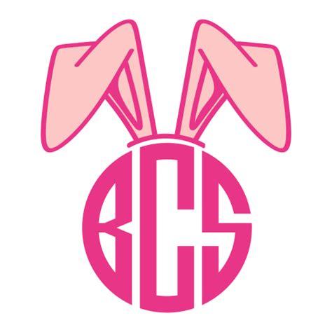 bunny ears monogram svg cuttable frames
