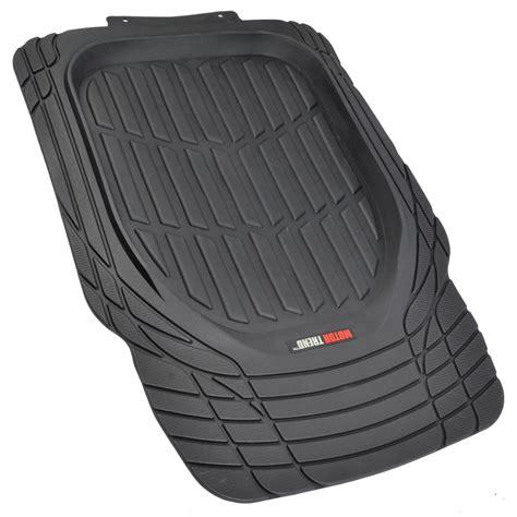 floor mats all weather motor trend flextough 3pc rubber floor mats thick heavy