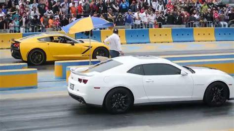 Corvette Stingray C7 Supercargado Vs Camaro Zl1