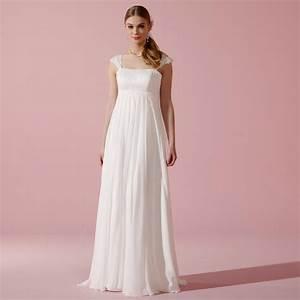 robe de mariee empire en mousseline et a bretelles amila With robe de mariée hiver avec bijoux en gros