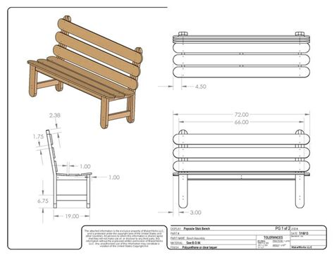 popsicle stick bench woodworking plan  tobacco road