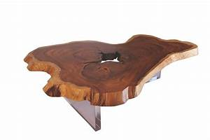 floating slab coffee table lucite base contemporary With wood and acrylic coffee table
