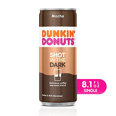 Dunkin' offers a number of packaged coffee varieties that our guests can purchase in our restaurants. Dunkin Donuts Iced Coffee Beverage Espresso Shot In The Dark Mocha - 8.1 Fl. Oz. - Tom Thumb