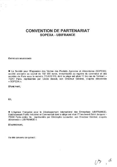 modèle lettre de partenariat commercial l agroalimentaire fran 231 ais au d 233 fi de l export pour