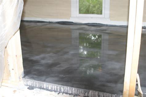 Epoxy Bathroom Floor by Project In Progress Bathroom Epoxy Floor Coating