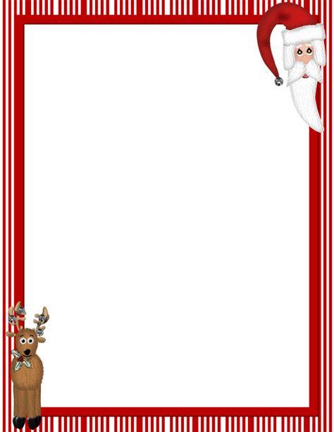 printable christmas stationary borders