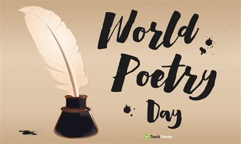world poetry day march  notification teach starter