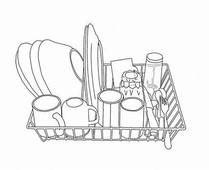 Dishes Drawing Draw Easy Drawings Sketch Covert
