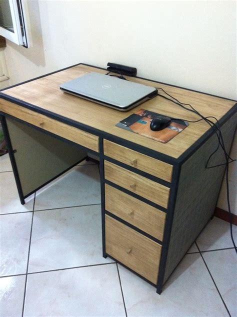 bureau bois et metal bureau bois métal par pierre2410 sur l 39 air du bois