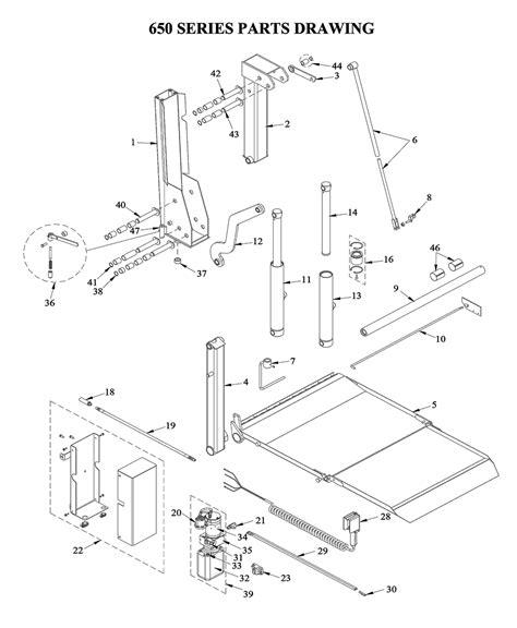 liftgate diagrams tommy gate liftgate parts diagrams