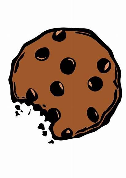 Cookies Cookie Clipart Chip Monster Chocolate Bitten