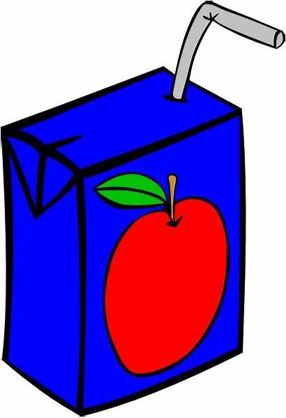 Juice Apple Clip Box Clipart Drinks Clker