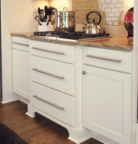 buffet bureau white shaker cabinets with slab drawer fronts used to