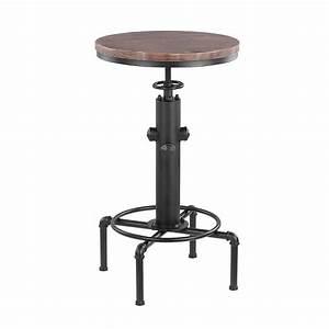 Table Bar Industriel : table de bar industriel achat vente table de bar industriel pas cher cdiscount ~ Teatrodelosmanantiales.com Idées de Décoration