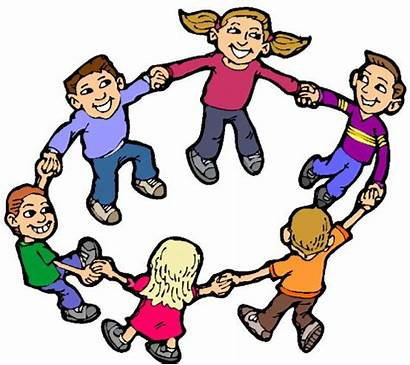 Children Clipart Playing Clip Play Circle Games