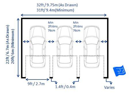 standard garage dimensions garage dimensions triple garage house plans treesranchcom