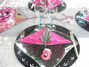 Deco Table Rose Et Gris : deco table bapteme rose et gris ~ Melissatoandfro.com Idées de Décoration