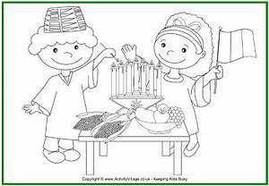 Kwanzaa Colouring Page - Kids Lighting Kinara