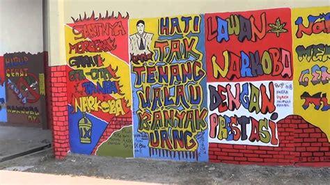 Grafiti Pendidikan : Grafiti Terpanjang Indonesia Anti Korupsi-smpn 3 Bayat