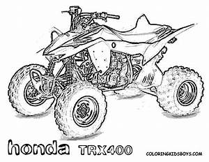free coloring pages of honda quad With honda 400 dirt bike
