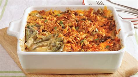 cheesy green bean casserole recipe pillsburycom