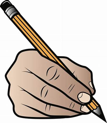Pencil Grip Clipart Writing Holding Transparent Drawing