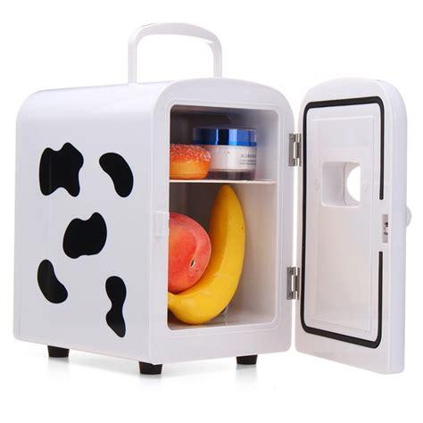 Cowhide Refrigerator by 45w 4l White Milk Cow Mini Portable Cooler Warmer Car