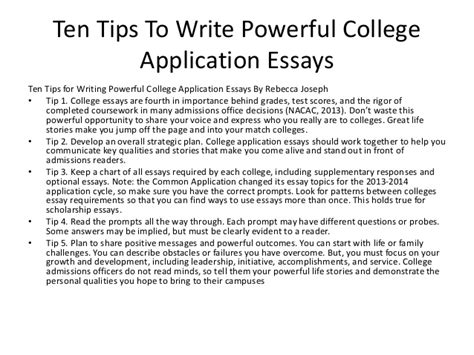 Tips For Writing Good College Essays Daily Writing Tips