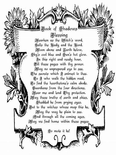 Wiccan Shadows Bos Blessing Pagan Wicca Pages