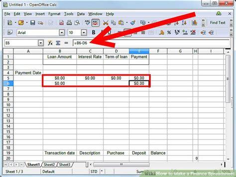 3 ways to make a finance spreadsheet wikihow