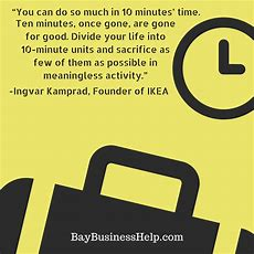 Ikea Founder On The Value Of 10 Minutes (motivational Business Quotes