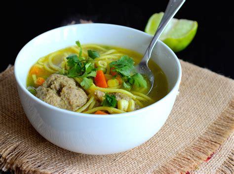 Sopa de Fideos con Albóndigas (Spaghetti and Meatballs Soup)   My Colombian Recipes