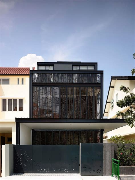 singapore house design house tour bold black design for this semi detached house in singapore by hyla architects