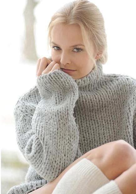 Sexy Blond Teen In Heavy Turtleneck Sweatersexual