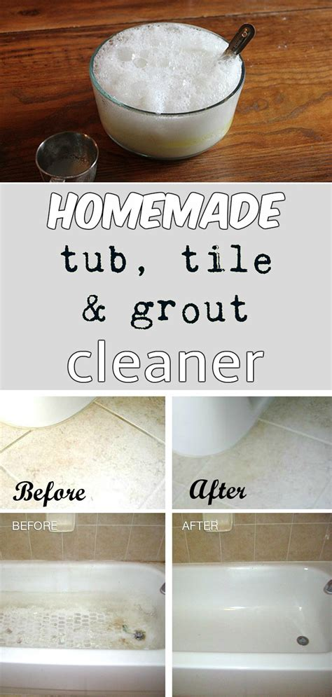 tub tile and grout cleaner