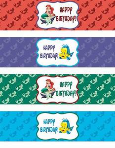 binge crafter free little mermaid happy birthday With free printable water bottle labels for birthday